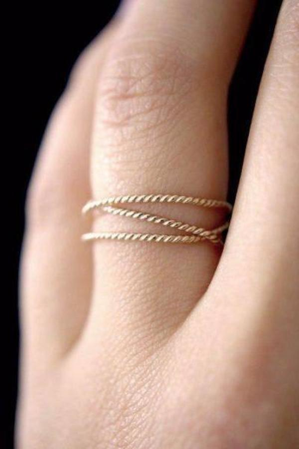 Hannah Naomi TWISTED WRAPAROUND RING - 14k white gold