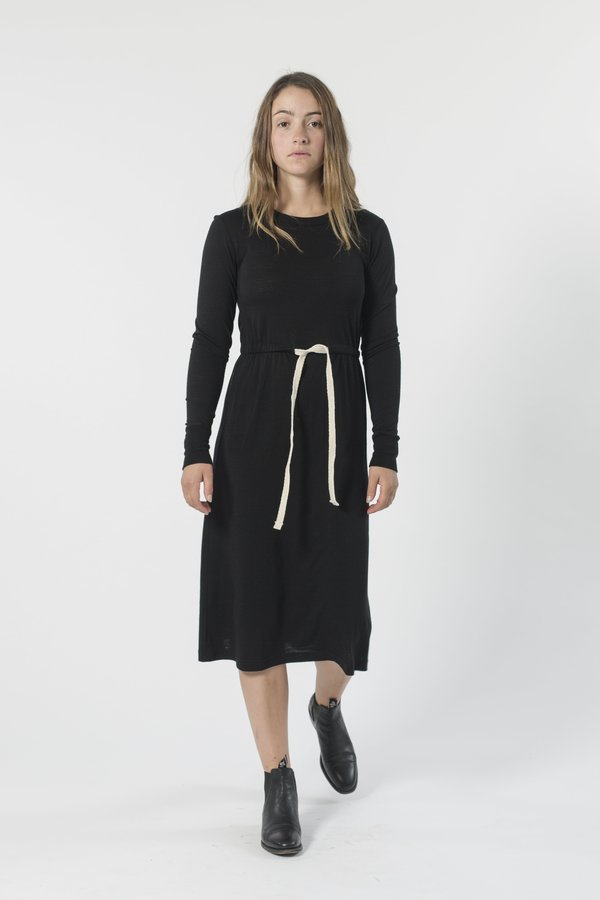 GOOD STUDIOS AUSTRALIAN MERINO DRAWSTRING DRESS