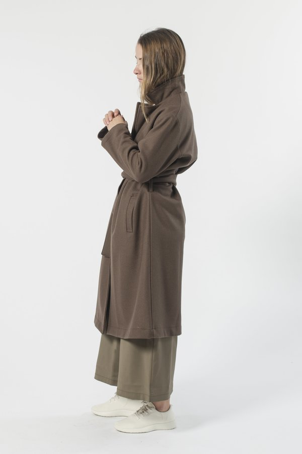 GOOD STUDIOS AUSTRALIAN WOOL MELTON TRENCH - CEDAR