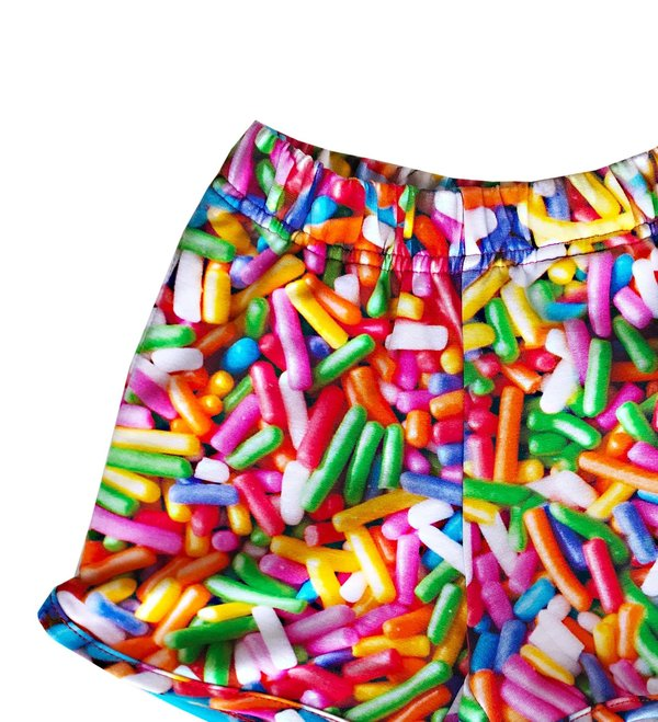 KIDS Romey Loves Lulu Shorts - Rainbow Sprinkles