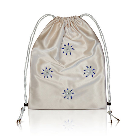 altaire Luxe Flower Pouch Bag - Nude