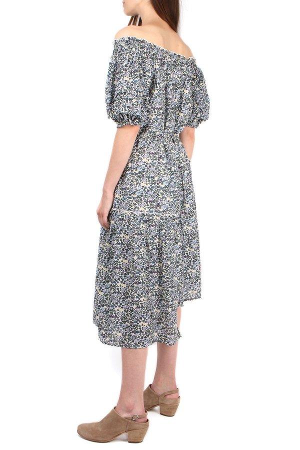 Apiece Apart Sandrine Dress - Navy Floral