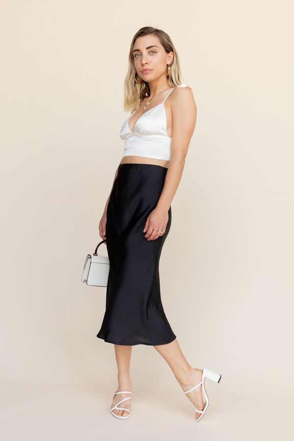 BETWEEN TEN Gaby Midi Skirt - Black