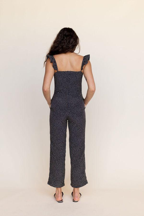 BETWEEN TEN Piper Jumpsuit - Black Floral