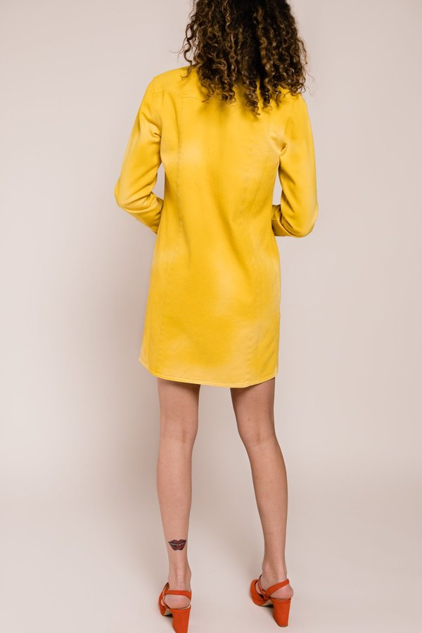 a4c703a2e1 Ganni Colored Soft Denim Shirt Dress - Yellow