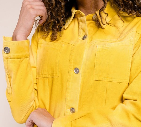 159c2b146b Ganni Colored Soft Denim Shirt Dress - Yellow.  295.00. Ganni