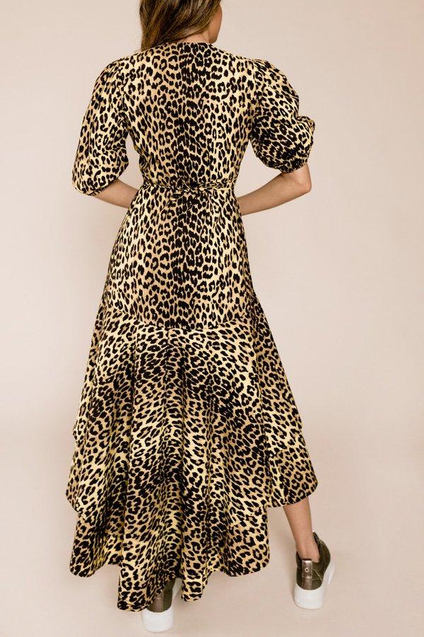 d5470b66 Ganni Printed Cotton Wrap Dress - Minion Yellow | Garmentory