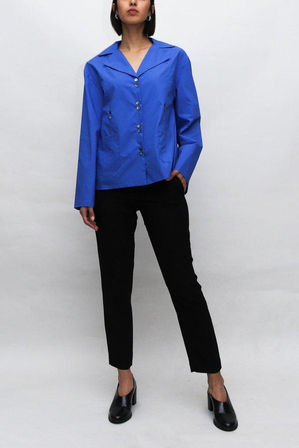 W A N T S Wide Cut Blouse - Royal Blue
