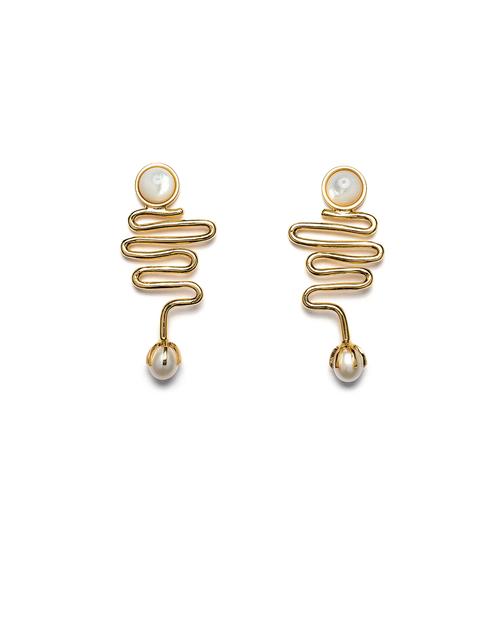 Lizzie Fortunato Wave Earrings