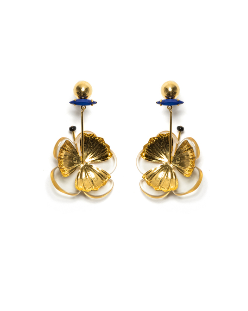 Lizzie Fortunato Tahitian Flower Earrings
