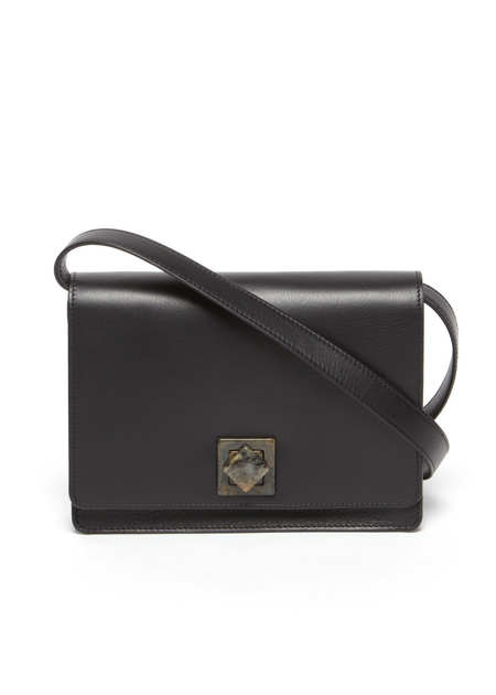 The Stowe Evelyn Lock Bag in Nappa Lined Black