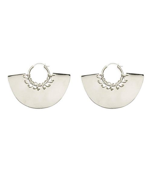A Peace Treaty Gela Hoop Earrings in Silver