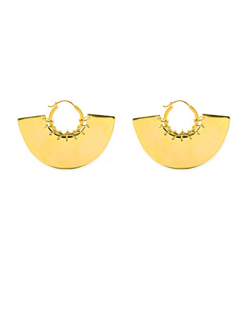 A Peace Treaty Gela Hoop Earrings in Gold