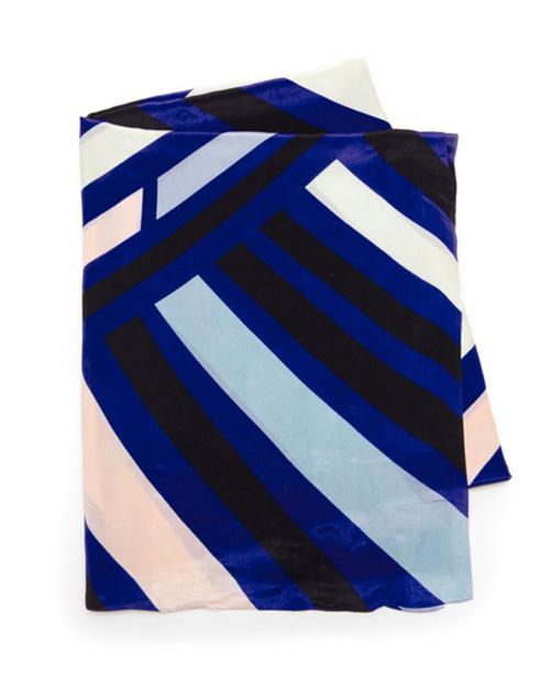 A Peace Treaty Catacoa Silk Scarf in Blue
