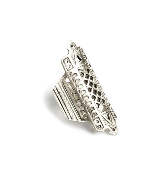 A Peace Treaty Bikku Ring in Silver