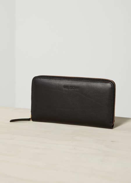 The Stowe Zip Wallet in Nappa Lined Black