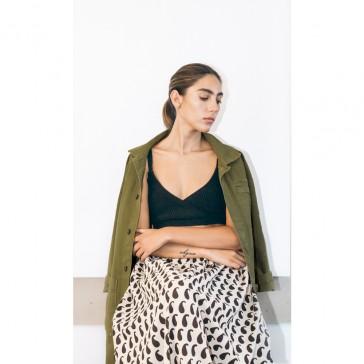 pari desai reed cotton canvas jacket Avocado