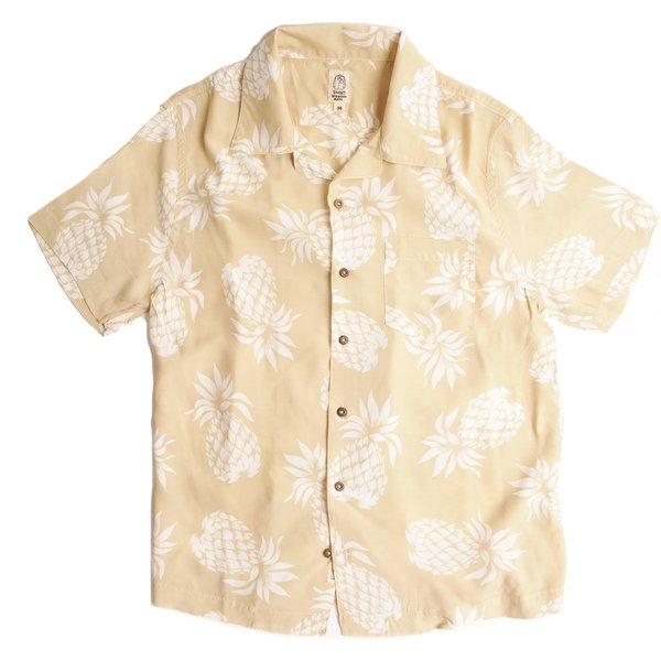 KATO Wrench Aloha Short Sleeve Shirt - Beige