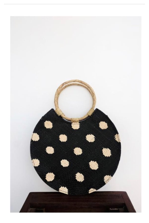 Bello polka dot bag - black/cream