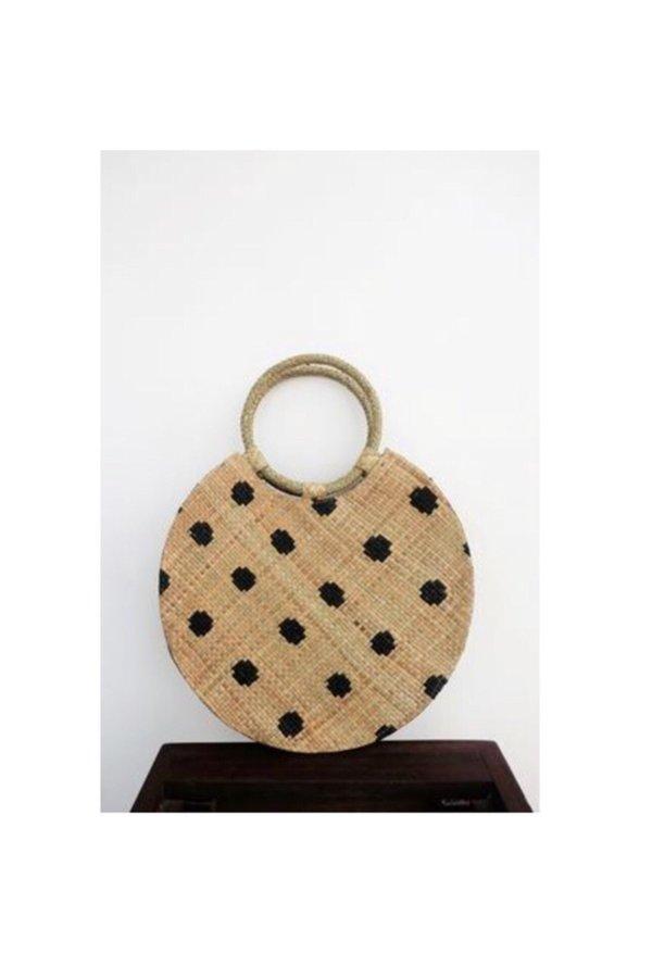 Bello polka dot bag - natural/black