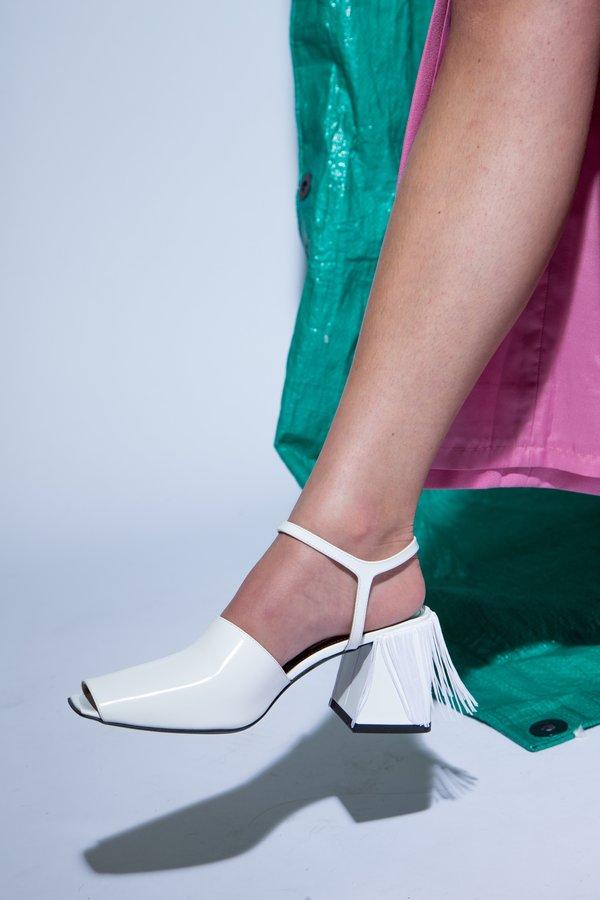 Suzanne Rae Fringe Back Sandal