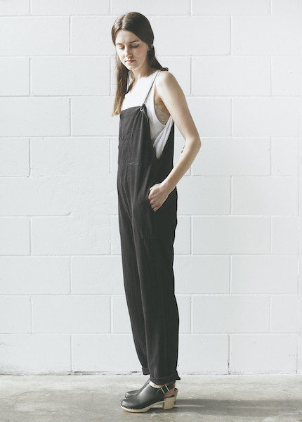 Lacausa - Silk Overalls in Tar