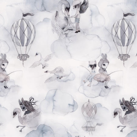 JIMMY CRICKET Oh Clouds Wallpaper - grey