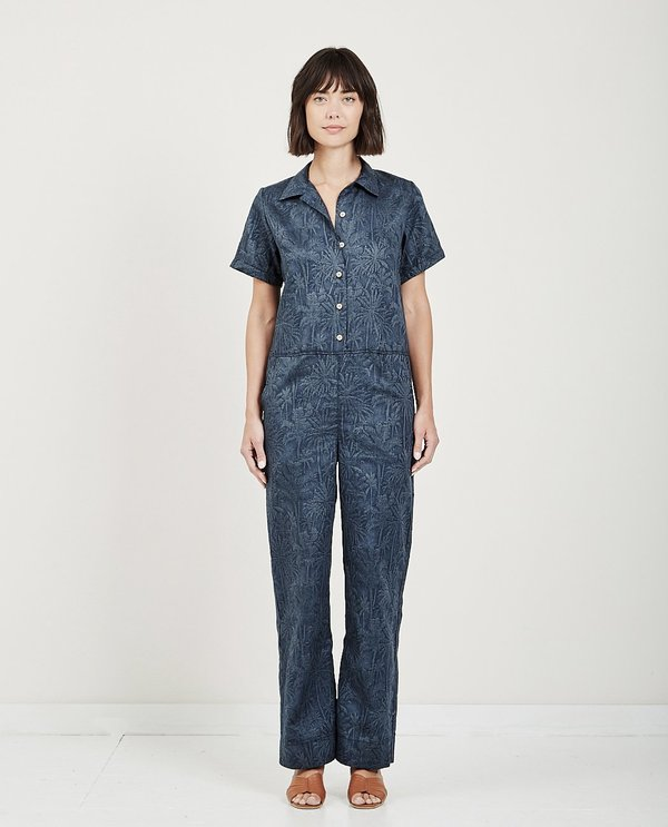 Naked & Famous JUMPSUIT - DOUBLE JACQUARD TROPICAL