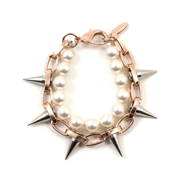 Joomi Lim Single Row Spike Bracelet with Pearls