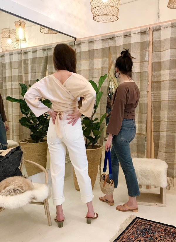 Citizens of Humanity Dree Crop Hi Rise Jean - Cameo