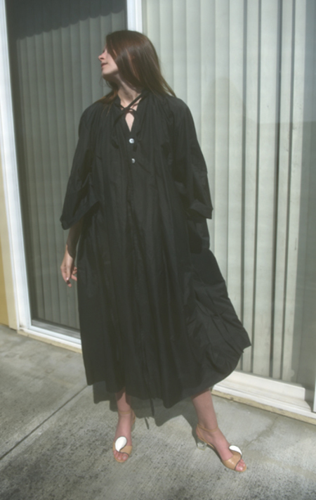 Cherevichkiotvichki Smock Silk Dress - Black