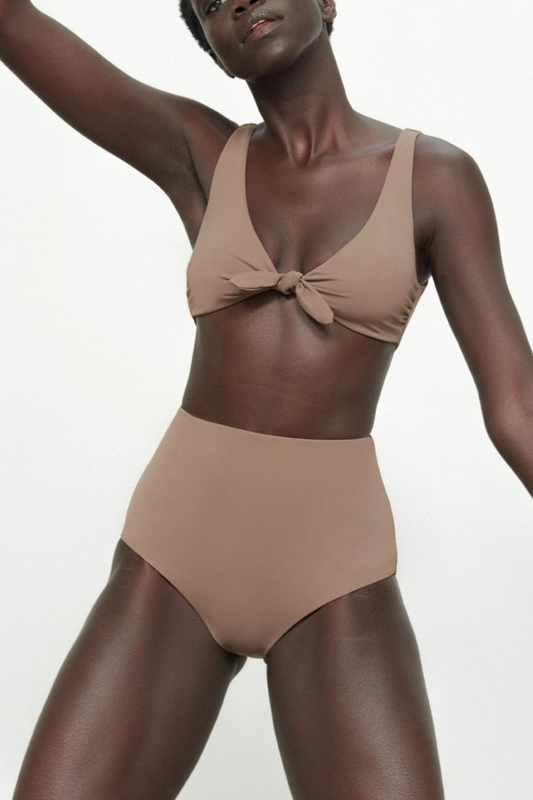 Mara Hoffman Lydia Bikini Bottom - Tan