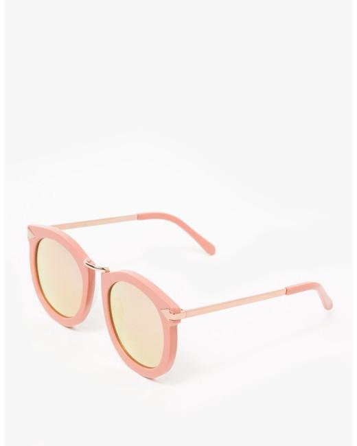 Karen Walker 'Super Lunar' Rose Pink Sunglasses