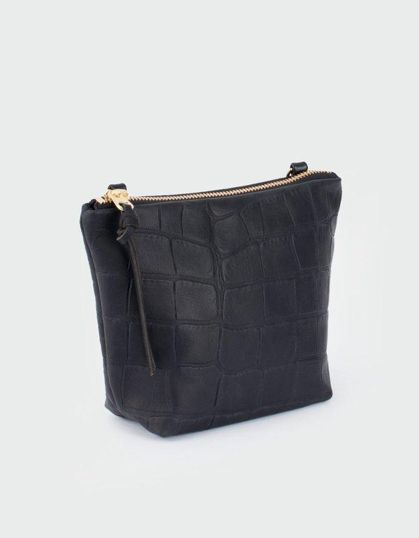 2d182a46c8b Eleven Thirty Croc Melissa Mini Shoulder Bag - Black