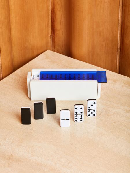 Luxe Dominoes Domino Set with Spinners
