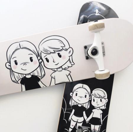 KIDS DLK   Design Life Kids Maya & Senna Skate Deck