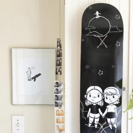 KIDS DLK   Design Life Kids On The Moon Skateboard