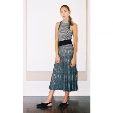 Pari Desai Gia Two-Tone Skirt Black / White