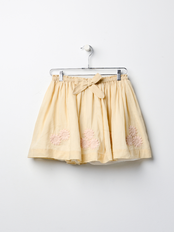 Innika Choo Terry Bell Mini Skirt - Nue