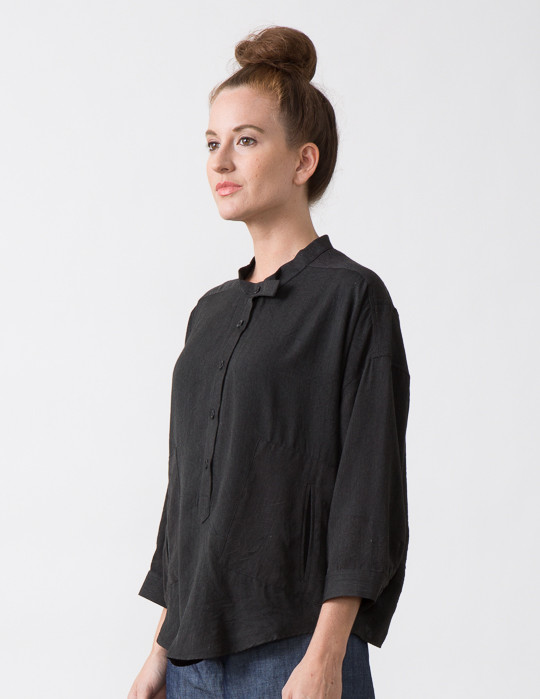 SBJ Austin Isabel Top in Charcoal