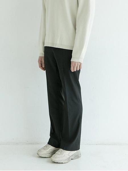 ALORS Flare Fit Pants - Jet Black