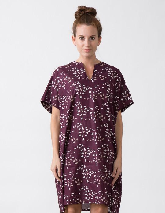 SBJ Austin Mary Dress in Bird Print