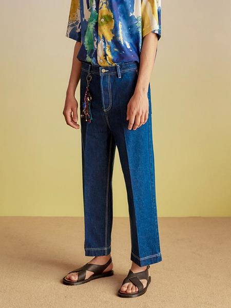 Andersson Bell Stich Denim Cropped Trousers