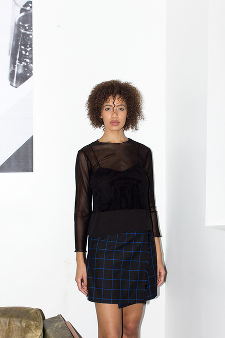 Bodega Thirteen CASEY SKIRT - black/blue