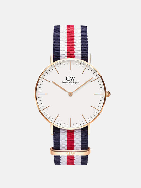 Daniel Wellington Classic Canterbury Nato Watch - ROSE GOLD