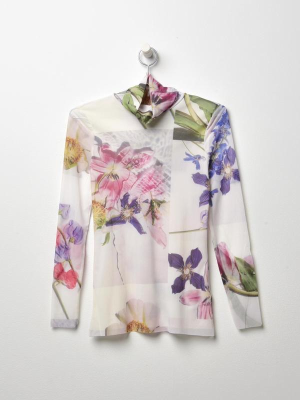 c055ab10 Ganni Tilden Mesh Top - floral print | Garmentory