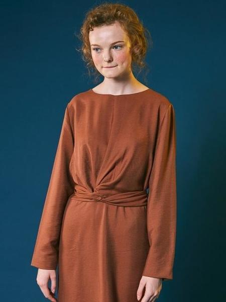 Another A Retro Ribbon Dress - brown