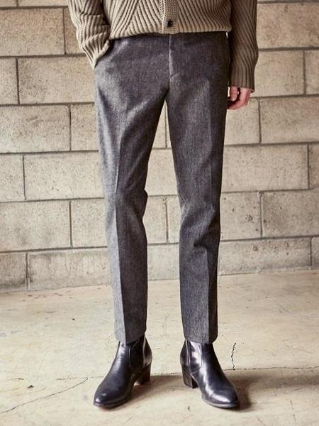Yan13 Basic Wool Slacks - Charcoal