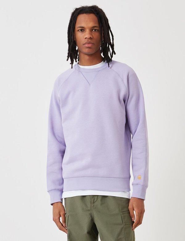 b5b72ebc529 CARHARTT WIP Chase Sweatshirt - Soft Lavender