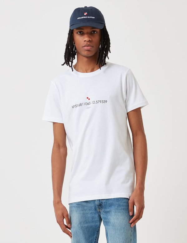 Norse Projects Niels Coordinates Logo T-Shirt - White